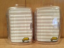 Medium Fly Box Plano Molding Company set lot x 2  foam clear top # 3583 new