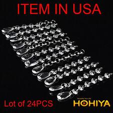 24pcs Fixture Ceiling Light Crystal Acrylic Pendant Chandeliers Lamp parts