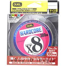 Duel Hardcore X8 4.0-300m Multicolor 27kg/60lb Ultra PE 8 Braid Line