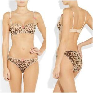 NEW Mimi Holliday Silk Coco Leopard Balconette Padded Bra Size 30E  SH65