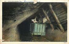 Paxinos? Pennsylvania~Pitch Vein Mining~Miner in Box Car~Mine Interior~1944