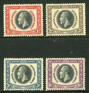British 1935 KGV Silver Jubilee Southwest Africa Sc #121-124 Mint Non Hinged Y81