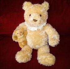 Gund Nurserytime Bear Animated Talking Tan Fuzzy 17in Plush with Baby 59024