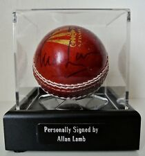Allan Lamb Signed Autograph Cricket Ball Display Case England Ashes & COA