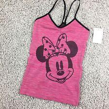 Minnie Mouse Tank Cami sleep Womens Size small 4/6 Stretch Tank Pink