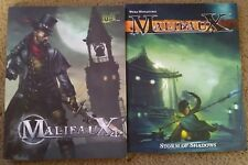 Malifaux Rulebook Lot Storm of Shadows & Second Edition Wyrd Miniatures