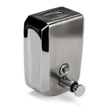 AU STAINLESS STEEL COMMERCIAL GRADE POLISHED WALL MOUNTED LOTION SOAP DISPENSER