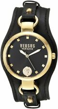Versus by Versace Women's SOM120016 'ROSLYN' Black Leather Watch