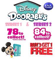 Disney Doorables Series 1 & 2 inc Ultra Rare Pick your own *BUY 3 GET 1 FREE*