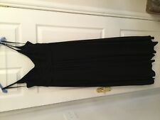 COAST BLACK FULL LENGTH MAXI OCCASION DRESS SIZE 14 WEDDING/PROM/BALL/XMAS DO