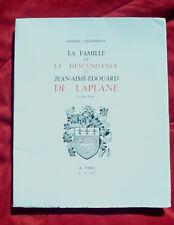Arnaud Chaffagnon, La famille et la descendance de Jean-Aimé-Édouard de Laplane