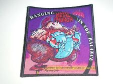 METAL CHURCH BANGING IN THE BALANCE WOVEN PATCH