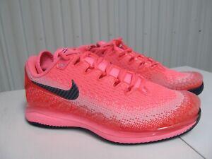 Wmn Nike Court Air Zoom Vapor X Knit Laser Crimson Pink 8 AR8835 604 Tennis Shoe