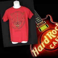 Hard Rock Cafe Shirt XS Gatlinburg TN Red Cotton Short Sleeves Guitar Wings HRC