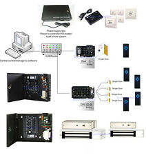 ZKteco 5 Doors Access Control Panel System Power Supply Box 600lbs Magnetic Lock