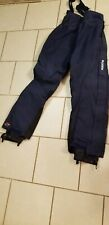 Columbia Womens Ski Snow Pants With Suspenders Blue Large