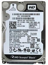 "WD2500BEKT Festplatte 250GB, 7200rpm, 16MB, 2,5"" 6,3cm gebraucht"