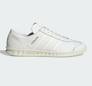 adidas Originals Hamburg Shoes Leather Trainers in White
