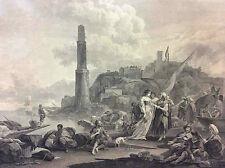 D'après BERGHEM N gravé LAURENT P La Bohémienne consultée Paris ça 1785 Bohême