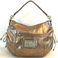 COACH POPPY METALLIC GOLD JAZZY SHOULDER BAG $298 20384E