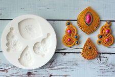 Silicone Mould, Decorative Asian, Indian Wedding Motifs Bollywood M201