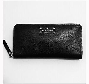 NWT Kate Spade New York Wellesley Neda Black Leather Wallet WLRU1153