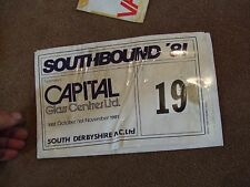 COMPETITORS ROAD RALLY PLATE BONNET NUMBER 1981 SOUTHBOUND RALLY