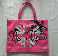 0c7d8a3cc9 Be Beau matalan shopping bag Hot Pink with bow decoration