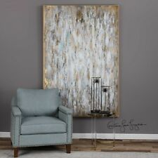 """NEW FRAMED 73"""" HAND PAINTED CANVAS ABSTRACT BRIGHT MORNING PAINTING MODERN ART"""