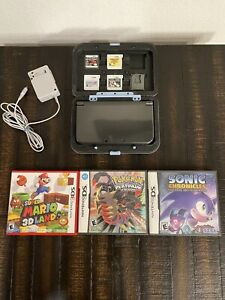 Excellent New Nintendo 3ds Xl Black bundle with Pokemon Platinum Version & more!