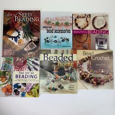 Lot 6 Bead beading books jewelry projects crochet designing antique beading