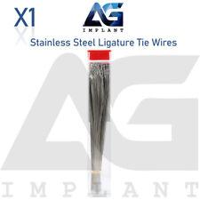 Long Stainless Steel Preformed Ligature Ties 1000 Wires Hooks Orthodontic Dental