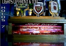 (REMOTE CONTROL)LED  Personalized 50'S OLD CAR DINER 7 beer tap handle display