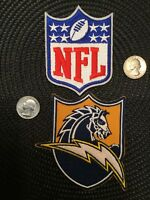 """(2) LA CHARGERS  IRON ON EMBROIDED PATCHES PATCH Lot 4"""" X 3.5"""" & 3.5"""" X 2.5"""""""