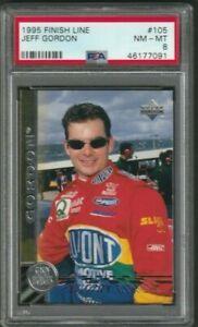 1995 Jeff Gordon Card PSA 8 Finish Line #105