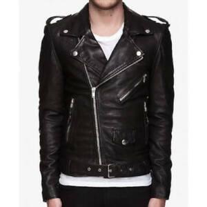 30 Seconds To Mars Jared Leto Black Biker Slim fit Faux Leather Jacket