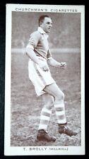 MILWALL FC   Brolly    Original 1930's Vintage Footballer Photo Card  VGC
