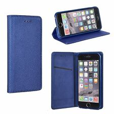 ^ IPHONE 5 Flip Tasche Hülle Etui Book Case SMART MAGNET dunkel blau