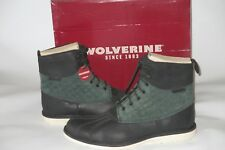 WOLVERINE - FELIX DUCK TOE BOOT - 12 M - FOREST GREEN/BLACK NEW RETAIL$190