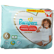 35 x Pampers jetables couche-culotte taille 6 (15 kg plus)
