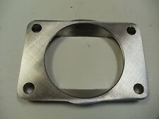 """Stainless T6 Undivided to 3.5 inch Inlet Transition Turbo Flange 1/2"""" CNC S400"""