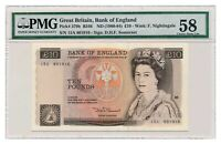 GREAT BRITAIN banknote 10 Pounds 1984 PMG AU 53 About Uncirculated grade