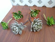 Artificial Succulents Grass Snow Ball And Snow Lotus Set of 6