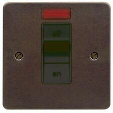 MK K14305 ABR B Edge 32A Oven Cooker Switch Neon Black Insert - Antique Brass