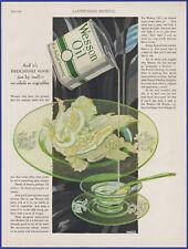 Vintage 1928 WESSON OIL Kitchen Art Décor Salad Dressing Ephemera 20's Print Ad