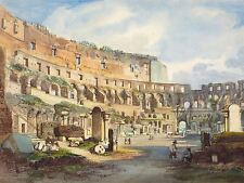 Ippolito Caffi interni italiano Colosseo old Arte Dipinto Manifesto bb5722a
