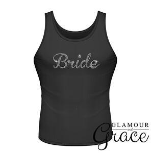 Black Singlet Bride Bridesmaid Bridal Party Hens Night Personalised Tank Top Tee