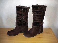 Rasolli LORI- 5 NEW Brown Faux Fur/Suede  Boot  Size 9