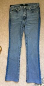 VERSACE JEANS COUTURE JEANS,DENIM TROUSERS W27, FUNKY BLUE GLITTER SIDES, sport