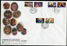 UNITED NATIONS 1999 50th ANN UNICEF DISNEY DESIGNED STAMPS ON SHEET & OTHER FDCs